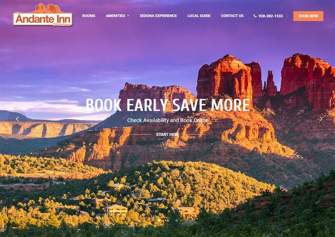 Sedona Hotel Web Design