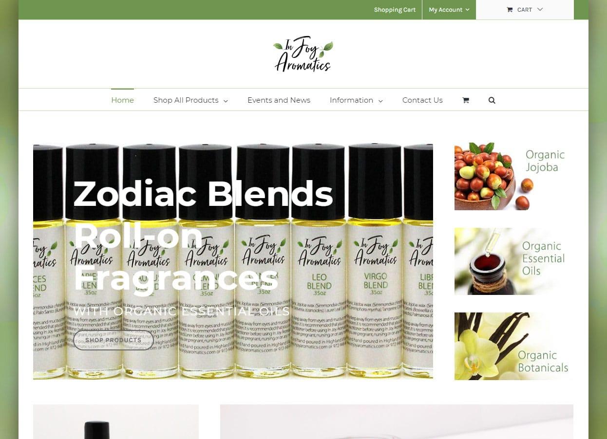 eCommerce Web Design for Aromatherapists