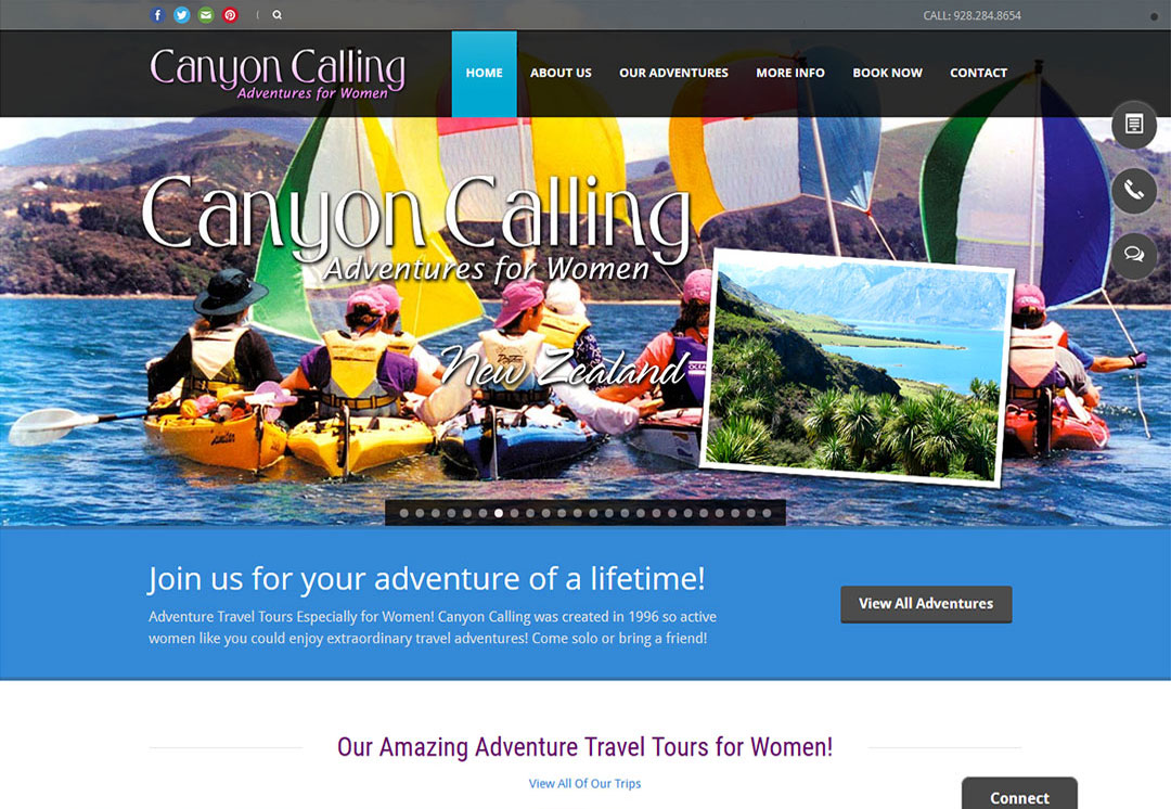 Travel and Destination Web Design