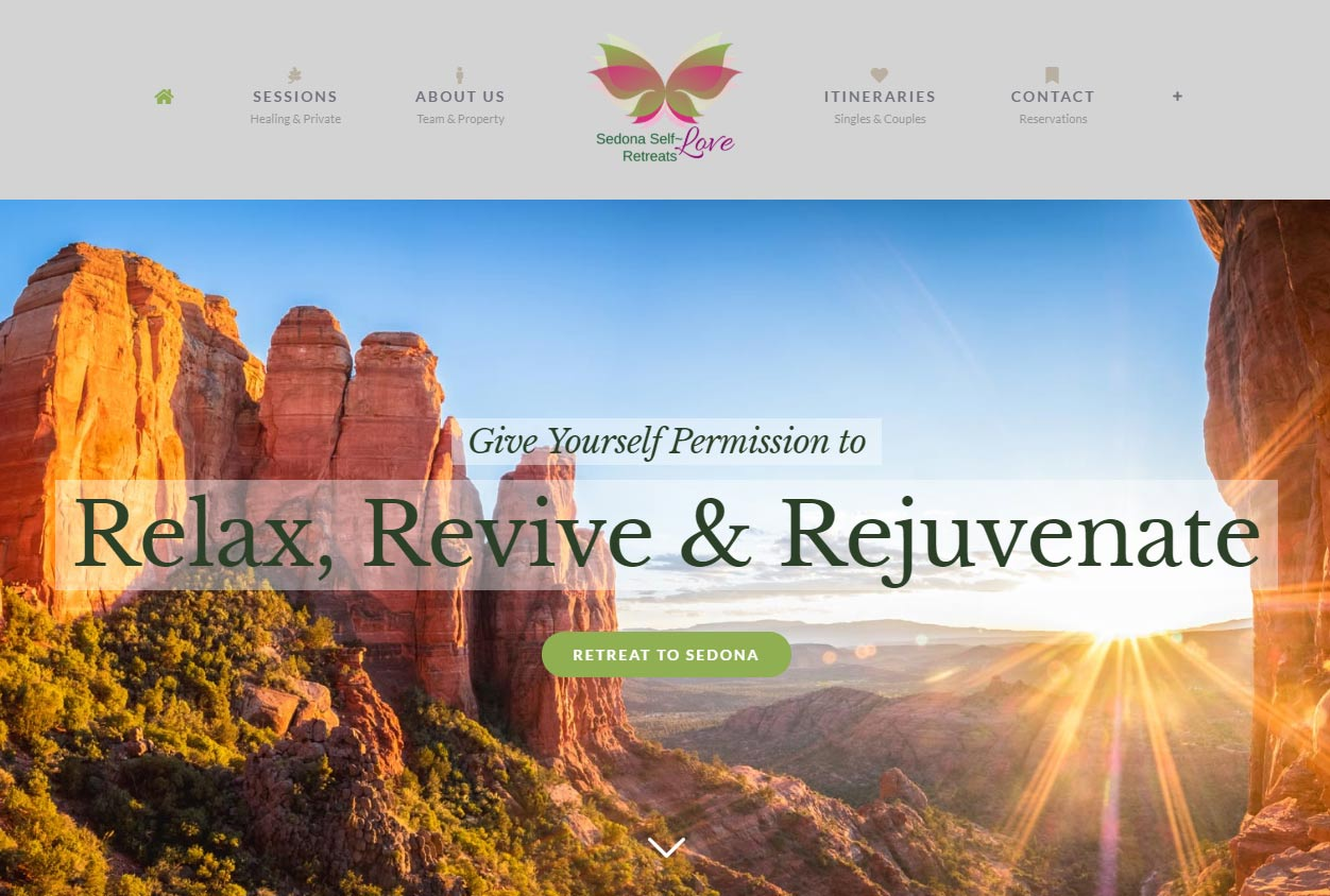 Website Design for Retreat Practitioners