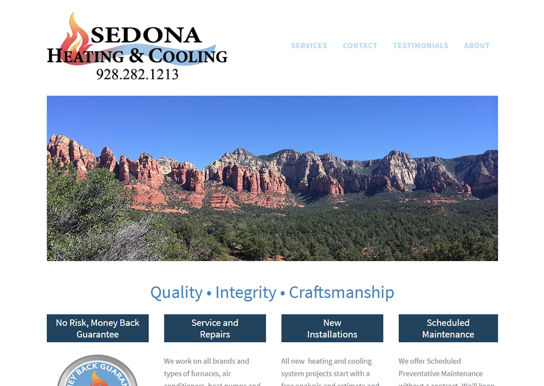 Sedona Heating and Cooling - before